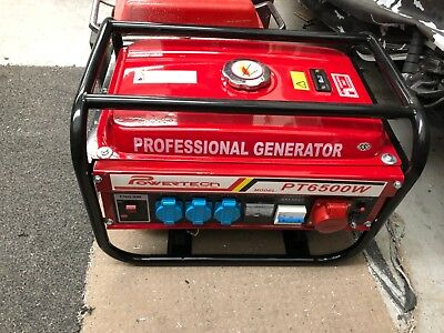 petrol generator 240v powertech 6500w new in box