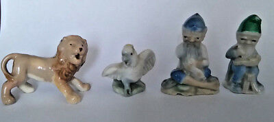 WADE 1950s 4 X Whimsies LION, COCKATIEL, LEPRECHAUNS All AF