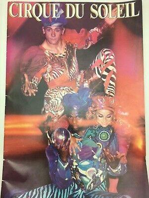 CIRQUE DU SOLEIL Official Program 1989 RARE Circus Souvenir Clown Benny Le Grand