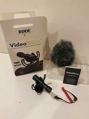 Rode VideoMicro Compact Shotgun On-Camera Microphone in great condition