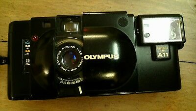 Olympus XA A11 35mm Rangefinder Film Camera with 35 mm lens tested with film