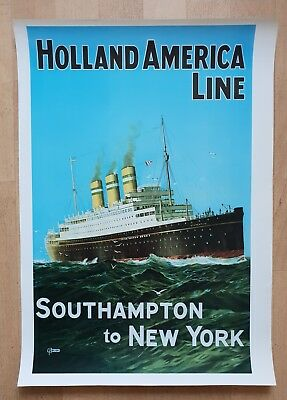 Poster Holland - America Line - Southampton to New York