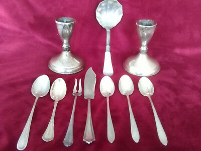 Lot of 10 Pieces of Vintage Sterling Silver Nearly 22 Ounces