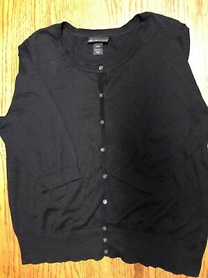 Lane Bryant Womens Plus Size 26/28 Button Front Cardigan 3/4 Length Sleeves