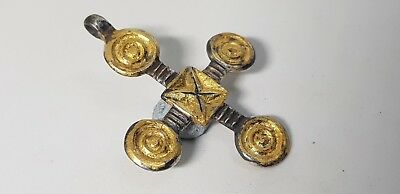 North  Europe Gilded Cross Pendant 9th -10th Century AD