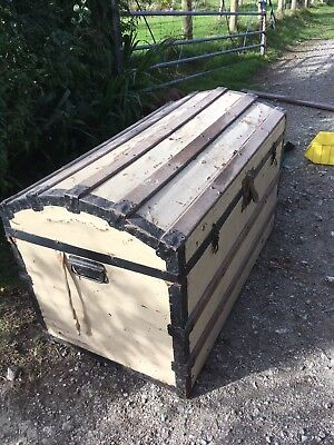antique wooden chest trunk For Refurbishment