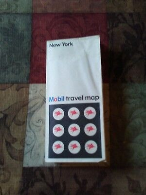 1967 New York Mobil Travel Road Map