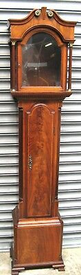 Small Mahogany Grandfather Clock Case - Only 70 inches High.