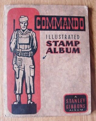 Rare Very Collectable Vintage 1945-50 Stanley Gibbons Commando Used Stamp Album