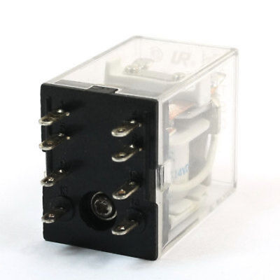 DC 24V Coil Volt 7A Plastic Shell 14 Pin 4PDT Electromagnetic Relay