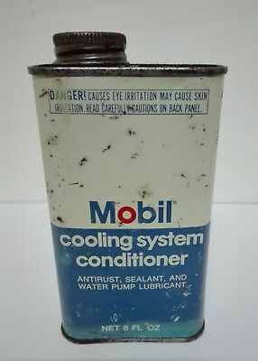 "Rare Vintage Mobil Can Tin with Red Pegasus Cooling System Conditioner ""8 FL Oz"""