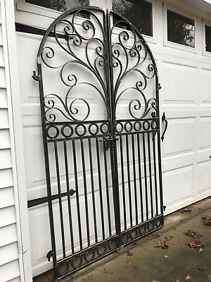 Grand Chateau Iron Scroll Garden Gate
