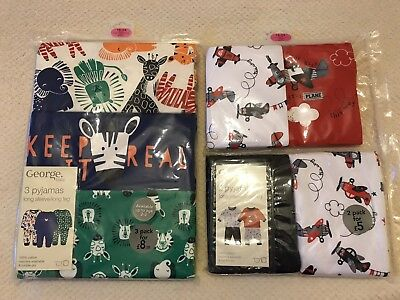 George Baby Boys Packs of Pyjamas 18-24 Months BNIP
