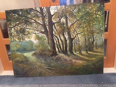 Huge Large Big 4ft x 3ft Amazing oil painting on board picture Original