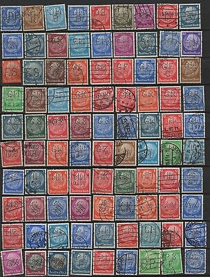 Germany Hindenburg very nice lot of perfin stamps