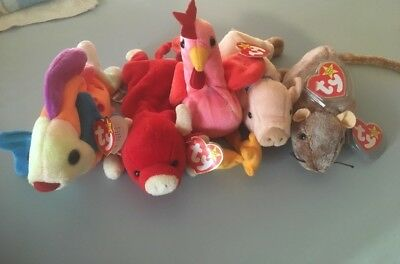 Ty Beanie Baby Lot Of 5 Rare New Mint Condition Collectors Choice
