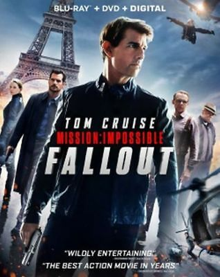 Mission: Impossible Fallout Blu-ray/DVD/Digital NEW Tom Cruise, Henry Cavill