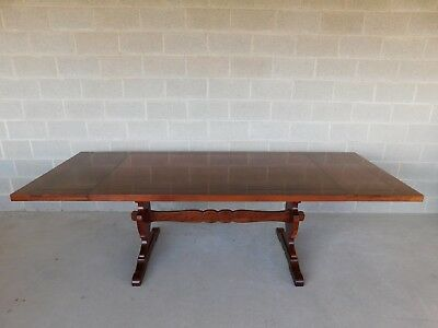 Harden Furniture Solid Cherry Trestle Base Dining Table