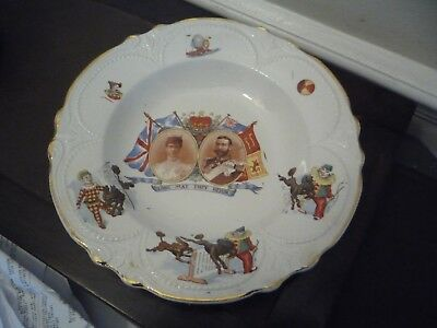 King George V & Queen Mary 1911 Coronation Nursery Plate Childs Plate