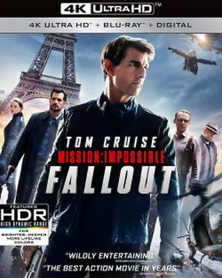 Mission: Impossible Fallout 4K Ultra HD Blu-ray/Blu-ray/Digital NEW Tom Cruise