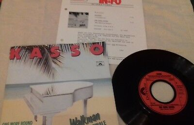 "7"" Kasso - Walkman 1982 ITALO DISCO FUNK Polydor West Germany + PR sheet"
