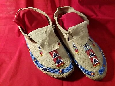 Authentic Beaded Moccasins. 1890's
