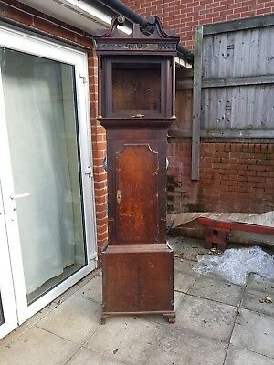 Antique Grandfather Longcase Clock Case - No Parts Just The Case