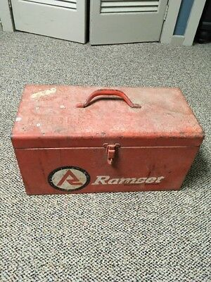 Vintage Ramset Powder Actuated Fastening Tool w Case plus Remmingon and  Loads