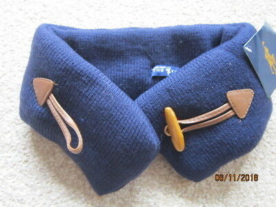 Boys scarf snood with a button