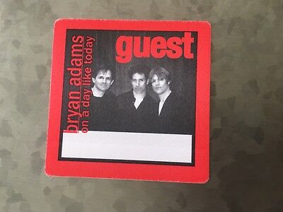 Bryan Adams - On a Day Like Today - Guest Pass - Red