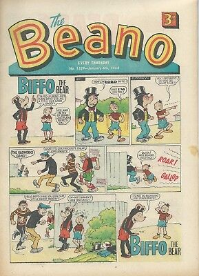 Beano Comics. January 1968. Very Good Condition. January 6th and 20th 1968.