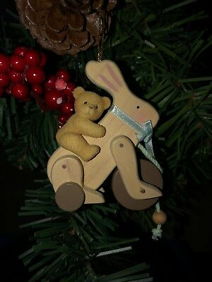 Cherished Teddies Ornament Antique Toy Bunny with Bear item #707147