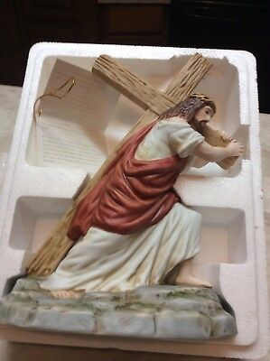 "Home Interior Homco Jesus figurine ""Road to The Crucifixion"" new in box"