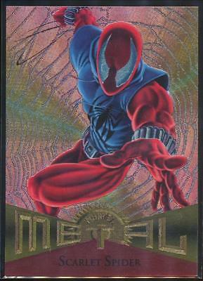 1995 Marvel Metal Trading Card #75 Scarlet Spider