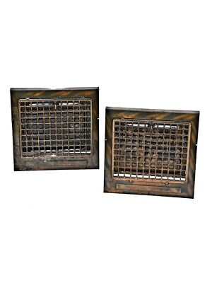 20Th C Copper-Plated Steel Interior Residential Baseboard Registers With Louvers