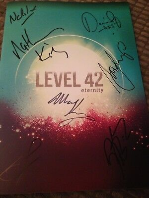 Level 42 Eternity Tour 2018 Signed Programme