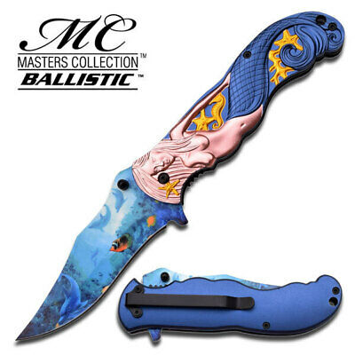 Masters Collection Mermaid Folding Knife (12.7cm closed) - Brand New