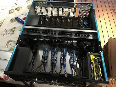 12 GPU Slot mining Rig with 2x 1600 Watt PSU
