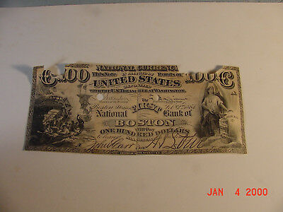 First National Bsank of Boston $100.00 1864
