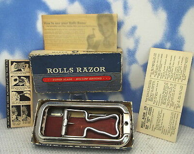 ROLLS RAZOR VISCOUNT Complete Outfit BOX - INSTRUCTIONS - BLADE - More L18