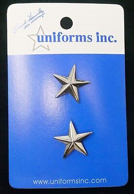 "General/Chief of Police 1 Star in Silver 1"" Wide.  FREE Shipping!"