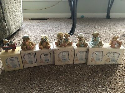 Cherished Teddies by Enesco RETIRED LOT OF 7, All 1992 Includes Boxes Hamilton