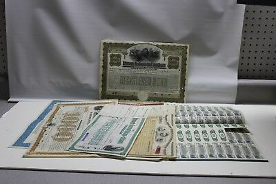 Lot of Railraod  Bond Certificates & Coupons New York Central Boston Cleveland