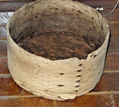 firkin primitive pantry box old very early example Virginia barn find large