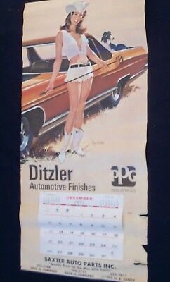 1972 Ditzler Auto Finishes – Vintage Calendar