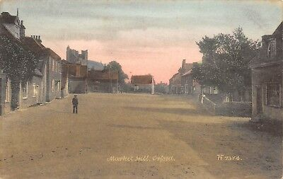 Orford England c1910 Postcard Market Hill Hand Colored