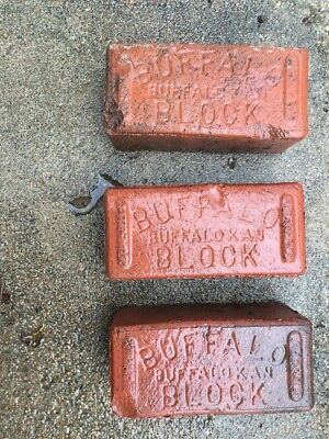 Lot 3 Antique Buffalo Block Sidewalk Street Paver Brick Builder
