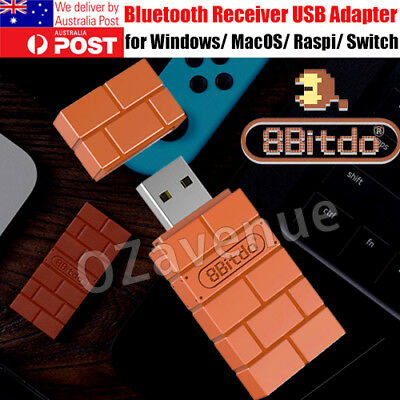Bluetooth Dongle USB Adapter Receiver For Nintendo Switch/ 8Bitdo Controllers AF