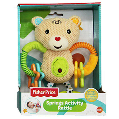 Fisher Price Baby Spring Activity Rattle Educational/Interactive Teether Toy 0m+