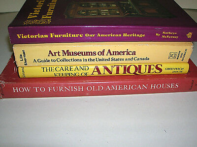 Lot of 4 Collectibles Books Victorian Furniture Care of Antiques Art Museums etc